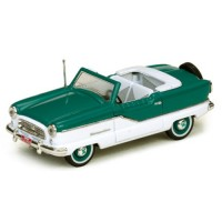 NASH Metropolitan Convertible open, 1959, blue/white