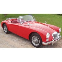 MG A Mk1 Convertible open, 1957, red (limited 1002)