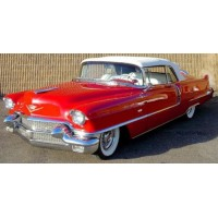 CADILLAC Series 62 Convertible closed, 1956, red