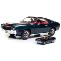 AMC AMX Hardtop, 1968, blazer blue (including 1/64 model)