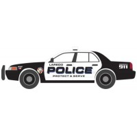 2010 Ford Crown Victoria Police Intercepto Laredo Texas Police *Hot Pursuit Series 32*, black/white