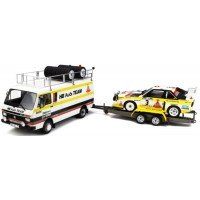 PACK Rally Portugal'86 including VOLKSWAGEN LT45 with AUDI Quattro Sport Rally Portugal'86 #3, W.Röhrl / C.Geistdörfer on trailer (limited 3000)